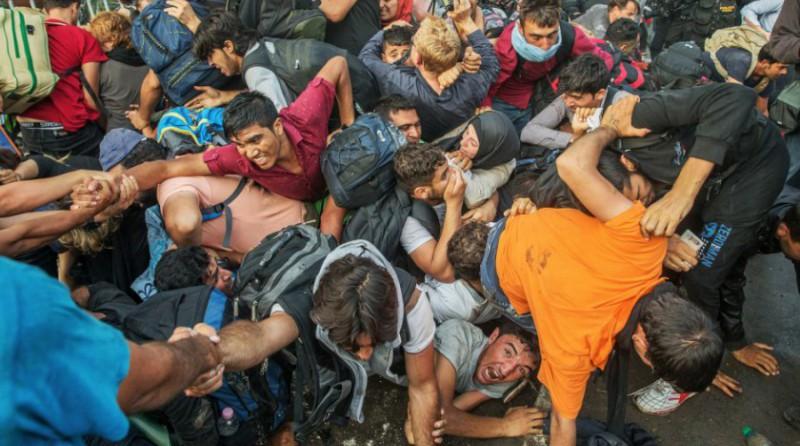 Uprchlíci na srbské hranici   foto: Jan Zátorský, MF Dnes, via Czech Press Photo