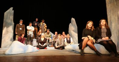 FOTO: Students and actors in Jára Cimrman´s play in English.